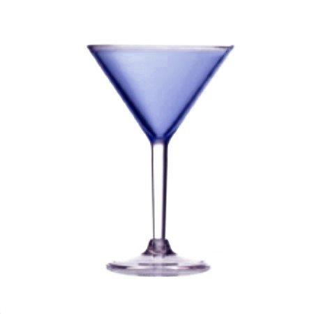 Set of 4 Colorful Acrylic Martini Glasses