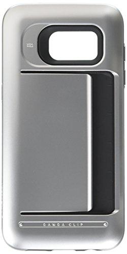 Galaxy S7 Edge Case, VRS Design [Damda Clip][Satin Silver] - [Wallet Card Slot][Military Grade Protection] for Samsung S7 Edge