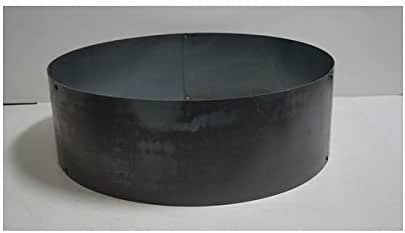 Amazon Com Pd Metals Steel Campfire Fire Ring Solid Design Unpainted Large 48 D X 12 H Garden Outdoor