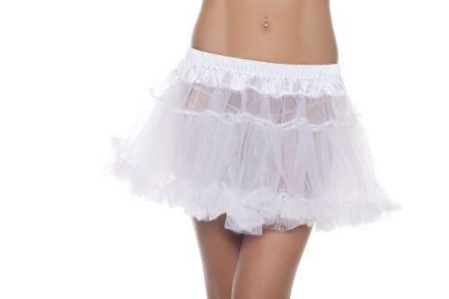 Wicked Kitty Costume (Be Wicked Costumes Women's Kate 12 Inch 2-Layer Petticoat, White, One)