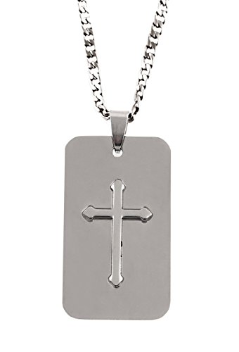 Men's Dogtag Cross Necklace - The Lord's Prayer in Gift ()