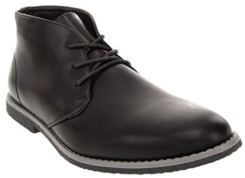 (London Fog Mens Broadstreet Chukka Boot Black 10.5 M)