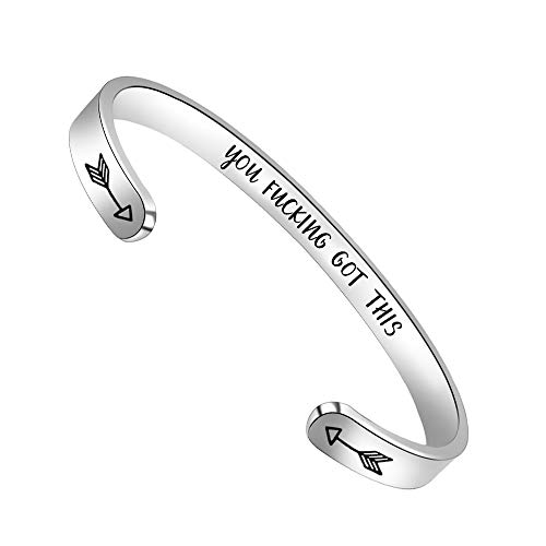 Inspirational Gifts for Women Men Cuff Bangle Friendship Bracelets Jewelry Come Gift Box (Best Gifts Under 15 Dollars)