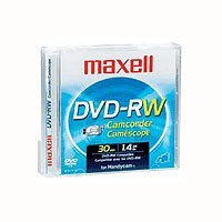 Maxell DVD-RW Camcorder Disks, 2 Pack by Maxell