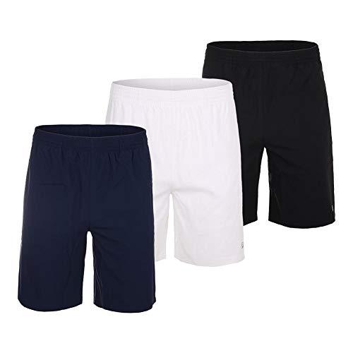 Fila Men`s Fundamental 7 Inch Hard Court 2 Tennis Short (Medium White)