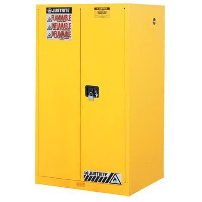 (Flammable Cabinet With Self Close Double Door, 90 Gallon)