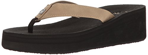 Cobian Women's Dove Wedge Flip Flop, Taupe, 6 M US