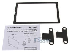 Scosche Multi Kit (SCOSCHE NN1674DDB 1993-2004 Nissan ISO Double DIN Multi-Dash)