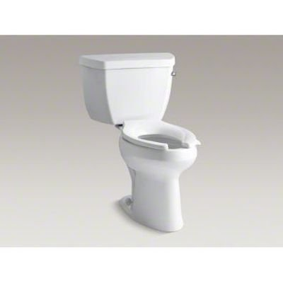 Kohler K-3493-RA-0 Highline Classic Pressure Lite Comfort Height Elongated 1.4 gpf Toilet with Right-Hand Trip Lever, Less Seat, White ()