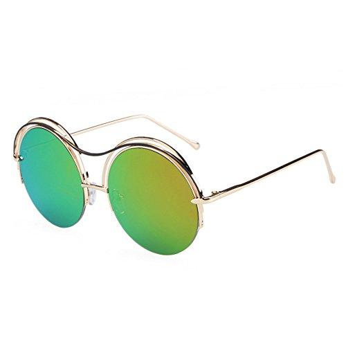Green lunettes soleil soleil réfléchissantes de de circulaires GAOLIXIA neutres Petites soleil lunettes de polarisées lunettes lunettes Uv naXwcOxqg