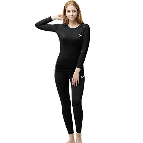 Women's Winter Underwear Set, Sport Thermal Long Johns Base Layer, Outdoor Compression Gear Top & Bottom for Skiing Running (Purple, Medium)