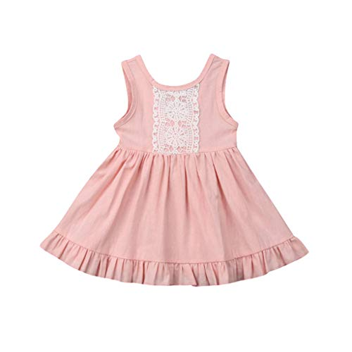 - Franterd Princess Dress for Little Girls A-Line Lace Sundress Beach Sunsuit Clothes for Baby Infant Kids