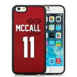 Genuine Teen Wolf Scott Mccall Inspired Jersey Beacon Hills Lacrosse Black iPhone 6S 4.7 Inches Shell Case,iPhone 6 TPU Case