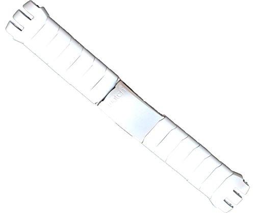 ZTD212 21mm Silver Aluminium Matt for Swatch Scuba Replacement Watch Band Strap Free Spring BAR Tool ()