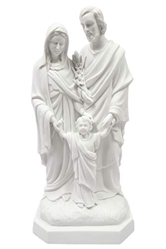 "20"" Holy Family Joseph Mary Jesus Catholic White Statue Figure By Vittoria Collection Made in Italy"