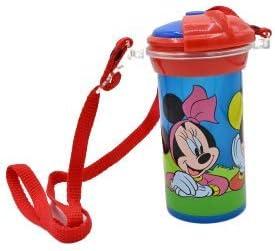 ML Botella de Agua Infantil, cantimplora Botella de Agua de plastico con Pajita para niños y niñas, cantimplora a Prueba de Fugas sin BPA para Levar a la Escuela y Deportes el Termo