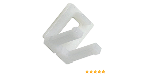 6 White Pre-Cut Polypropylene Plastic Pallet Straps w//Buckles 1//2 x 15 Embossed