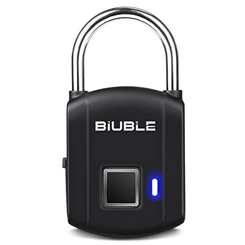 (Fingerprint Padlock Smart Keyless Security Lock IP65 Waterproof Anti-Theft USB Rechargeable Suitable for School Locker, Gym, Door, Cabinet, Suitcase, Backpack)