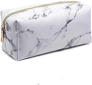 SHANF - Estuche para lápices de mármol, cuadrado, con cremallera, color blanco: Amazon.es: Equipaje