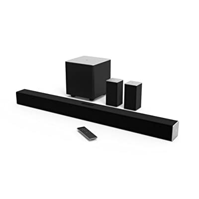 VIZIO SB3851-C0 38-Inch 5.1 Channel Sound Bar with Wireless Subwoofer and Satellite Speakers (2015 Model) (Certified Refurbished) from VIZIO