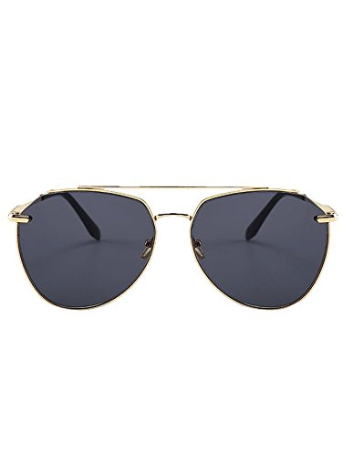 8e62db8f936b PALAY Vintage Metal Bar Embellished Pilot Sunglasses (Gold Frame + Black  Lens)  Amazon.in  Clothing   Accessories