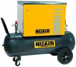 Nuair Compresor de aire insonorizado 100 litros 10 bar 3 CV 2,2 kW