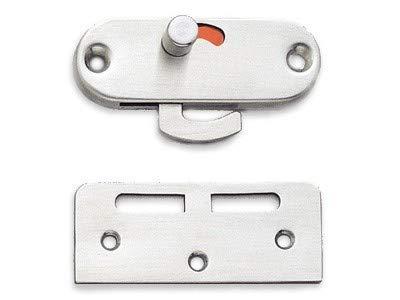 Sliding Hardware Door Sugatsune - Sugatsune HC-85-S: Slide Knob Sliding Door Latch - Satin Stainless Steel
