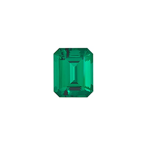 Mysticdrop 0.16-0.31 Cts of 5x3 mm AAA Emerald-Cut Russian Lab Created Emerald (1 pc) Loose Gemstone
