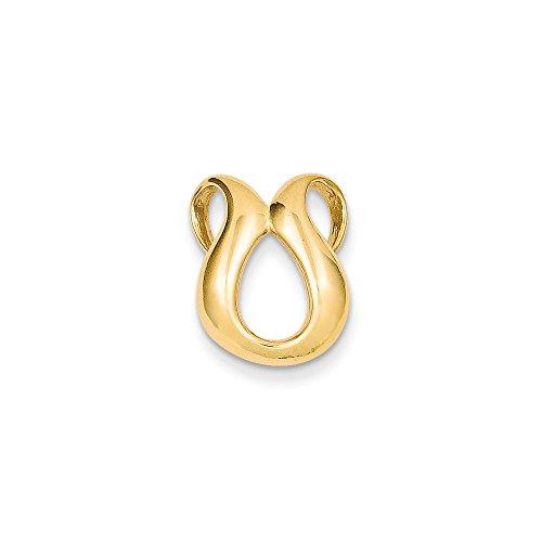 - 14k Fits up to 2mm Regular & 4mm Fancy/Reversible Fancy Omega Slide, 14 kt Yellow Gold