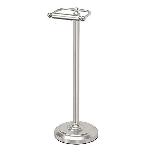 Gatco 1436SN Pedestal Toilet Paper Holder, Satin Nickel (Toilet Holder Stand)
