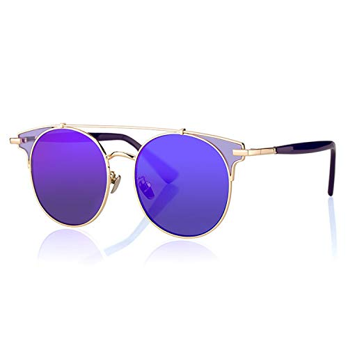 New Sunglasses Women Glasses Mirrored UV400 Protection Eyeglasses Fashion Outdoor Sun ()