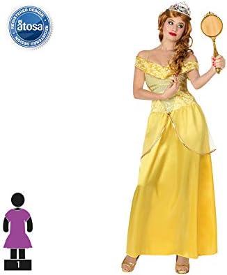 Atosa-28905 Disfraz Princesa de Cuento, color amarillo, XS-S ...