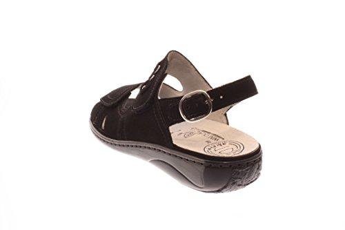 Femmes Sandalettes schwarz noir, (schwarz) 210004-191 001