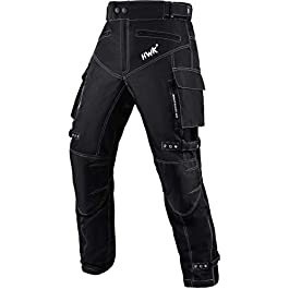HWK Motorcycle Pants For Men Dualsport Motocross Motorbike Pant Riding Overpants Enduro Adventure Touring Waterproof CE…
