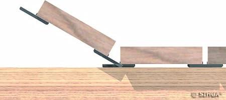 Terrassenbefestigung nicht sichtbar Holzterrasse Terrassenschrauben Sihga Dielenfix DF DF 17 | ab 19 mm Dielenst/ärke | 300 Stck. A2 Edelstahl