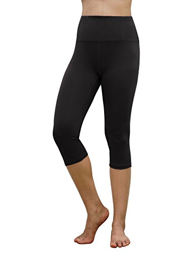 REETOYO Womens High Waisted Tummy Control Workout Running Yoga Leggings Capris with Hidden Pockets
