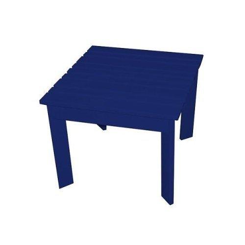 Prairie Leisure Aspen 16 x 16 in. Adirondack Side Table - Blue Adirondack End Table