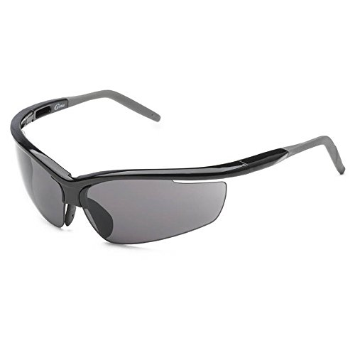 SACASUSA (TM) Running Cycling Professional Fashion Sports Wrap Sunglasses UNBREAKBLE TR90 Frame in Smoke Lens