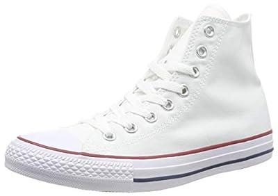Converse Unisex Chuck Taylor All Star HI Basketball Shoe (6.5 B(M) US Women / 4.5 D(M) US Men, Optical White)