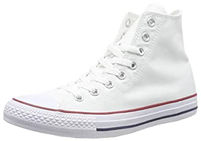 Converse Chuck Taylor All Star Unisex Sneakers, Optical White, 7 US