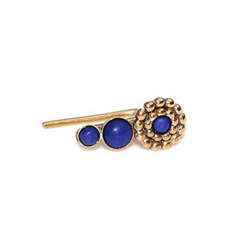 Gold Lapis Lazuli Ear Climber Earring/Ear Crawler, Earcuff, Ear Wrap, Ear ()