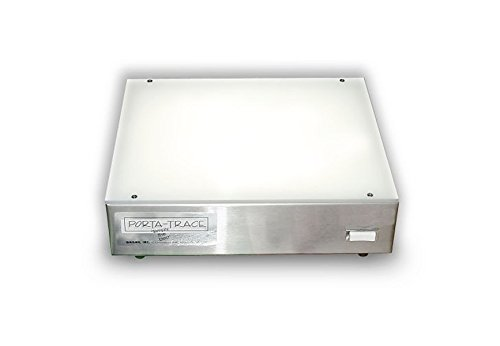 Porta-trace 1 Porta Trace 1012-1L 10 x 12-inches Stainless Steel Frame Lightbox with LED last up to 50,000 hours (Box Light 12 10 X)