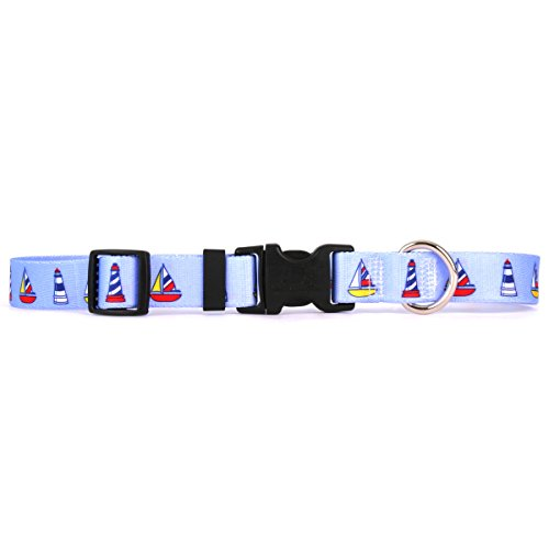 Yellow Dog Design One Size Fits All Sailboats and Lighthouses Break Away Cat Collar, Null
