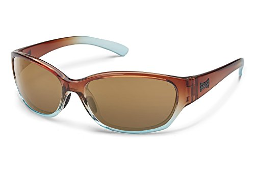 Suncloud Duet Sunglasses, Cola Fade Frame/Sienna Mirror Polycarbonate Lens, One - Smith Sunglasses Womens