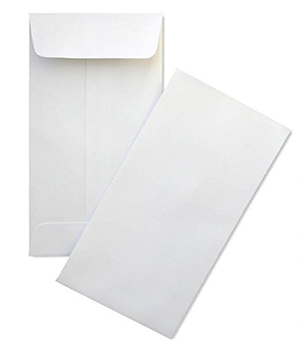 # 5 1/2 Coin Envelope White 3 1/8 x 5 1/2 inches Perfect for Storing Small Parts, Coins, Jewelry, Stamps, Seeds and beeds 100 envelopes per Pack