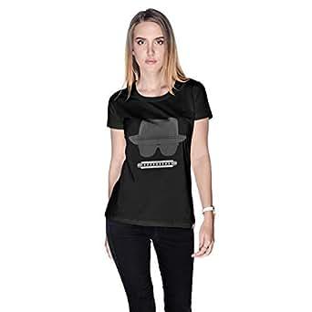 Creo Beach Hat Glasses T-Shirt For Women - L, Black
