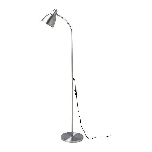 Ikea 201.109.03 Lersta Floor Reading Lamp, Aluminum