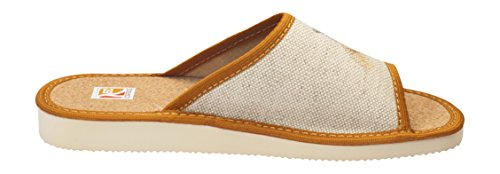 Pantofola Slipper Da Donna In Pelle Chiusa / Open Lou09e