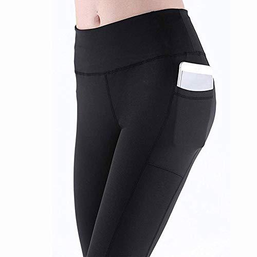 Beyonds Women High Waist Pocket Yoga Pants Weight Loss Workout Yoga Leggings Black