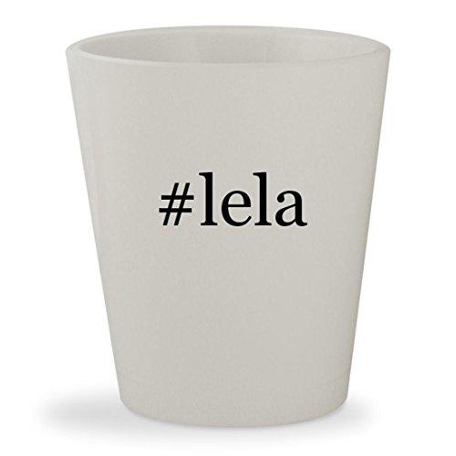 #lela - White Hashtag Ceramic 1.5oz Shot - Twitter Doc Brown